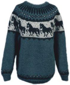Strickpaket Alafoss Lopi Pferdepullover Nr. 8809 Tweed, Knitting Machine Patterns, Icelandic Sweaters, Hand Knitting, Knit Crochet, Applique, Men Sweater, Classy, Wool