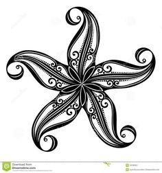 Starfish tattoos not only look great, the symbolism of starfish make it an inter. - Starfish tattoos not only look great, the symbolism of starfish make it an interesting choice for a - Tattoo Kind, Hawaiianisches Tattoo, Tattoo Tribal, Tatoo Art, Mandala Tattoo, Piercing Tattoo, Swirly Tattoo, Tribal Tattoos For Women, Armband Tattoo