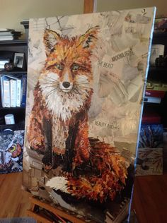 Collage of a Fox - deborah shapiro art