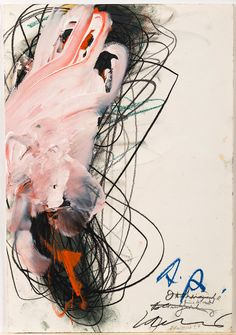 Arnulf Rainer (Austrian, b. Mixed media on paper, c. 44 x 30 cm. via justanothermasterpiece Arnulf Rainer, Colorful Abstract Art, Illustration Art, Illustrations, Abstract Expressionism, Art Inspo, Collage Art, Modern Art, Contemporary