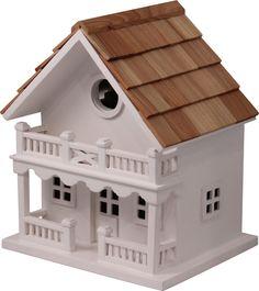 chalet-birdhouse, too cute!