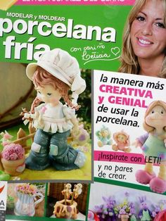 Cold Porcelain magazine 5 2010 by Leticia Suarez by AmGiftShoP Book Crafts, Clay Crafts, Fondant Dog, Cross Stitch Books, Clay Figurine, Fondant Tutorial, Project Steps, Gum Paste Flowers, Air Dry Clay