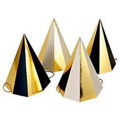 DIY these with metalic tape -- POP! Party Hats