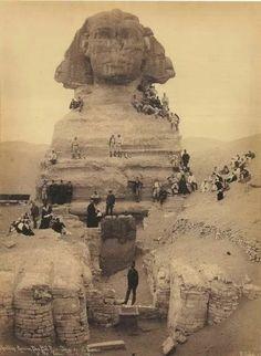 Egypt, the Sphinx, 1830s.