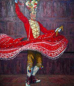 #basquedancer #painting #museebasque #bayonne #basqueartist #basque #frenchbasquecountry