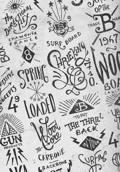 Hand lettering by BMD Design