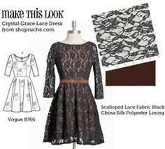 I really want to learn how to sew!!! This website matches popular dress styles with simplicity patterns.
