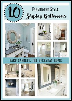Shiplap is still all the rage, and its super easy to add to your bathroom. The Everyday Home shares 10 Fabulous Farmhouse Style Shiplap Bathroom ideas.