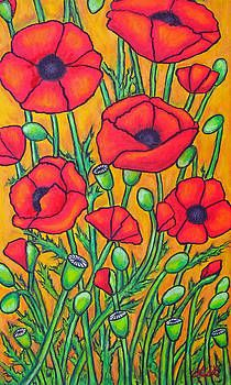 Poppy Flower Painting, Flower Art, Poppies Painting, Remembrance Day Art, Rock Flowers, Naive Art, Colorful Paintings, Chalk Art, Abstract Flowers