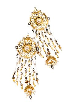 The A to Z of diamond jewellery   keshi pearls & diamond set in 18 k carat gold earrings by moksh