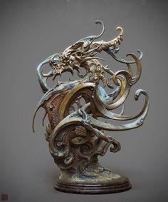 Incredible dragon statue by Zhelong Xu