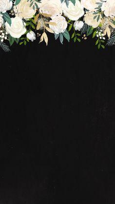 Fundo preto flor decoupage pinterest for Schwarze mustertapete