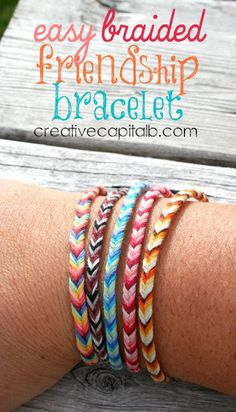 Capital B: Easy Braided Chevron Friendship Bracelet - easy camp activity
