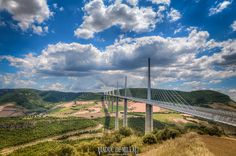 Millau Viaduct (Viaduc de Millau), Aveyron, Midi-Pyrenees, France