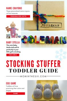 The 25 Best Toddler Stocking Stuffers: Ultimate Guide - Gifts for Toddler Girls, Gifts for Toddler Boys. Baby's First Christmas Gifts, Toddler Christmas Gifts, Best Gifts For Her, Gifts For Girls, Toddler Girl Gifts, Toddler Boys, Kids, Baby Stella Doll, Stocking Stuffers For Boys