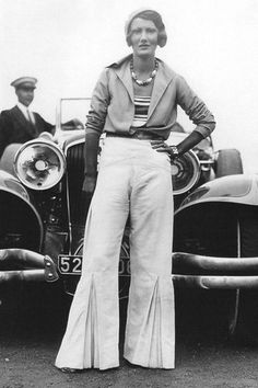 A Peek Inside - Dorothea's Closet Vintage Unknown woman, 1930s....fantastic pleated pants!