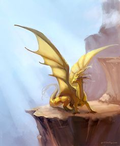 golden dragon by ~Griffinfly on deviantART Gold Dragon, White Dragon, Dragon Art, Chromatic Dragon, Dragons, Year Of The Dragon, Find Art, Light In The Dark, Mystic