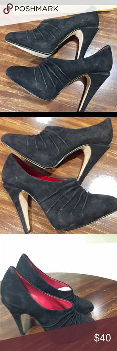 Max studio shoes Max studio Cambodia black suede booties . Worn a once size 9 Max Studio Shoes Ankle Boots & Booties