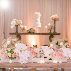 Blush pink and white wedding tablescape