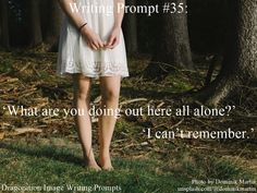 Writing Prompt #35: 'What are you doing out here all alone?' 'I can't remember.'