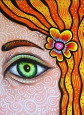 Mexican Paintings, Pop Art Artists, Girl Drawings, Painting For Kids, Colorful, Eye, Abstract, Flowers, Artwork