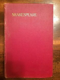 Shakespeare  The Complete Works of William Shakespeare Vintage Book
