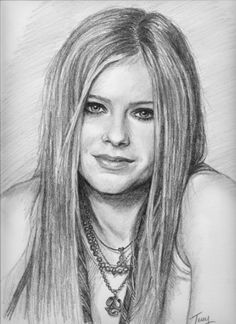 Avril Lavigne Drawing by TerryXart