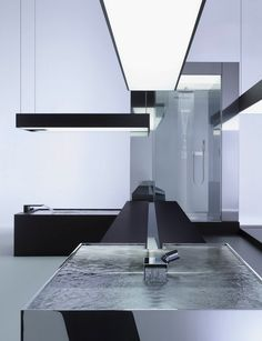 "Sculptural bathroom ""Deque"" by Dornbracht."