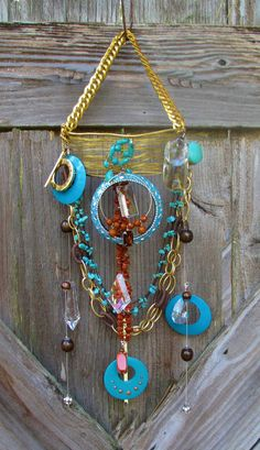 Vintage Jewelry  Suncatcher Windchime  Boho  - Very Unique and Fun!  Don't forget to follow my board for other unique items