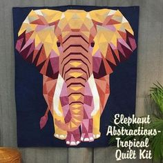 Hawthorne Threads - Elephant Abstractions - Tropical Quilt Kit