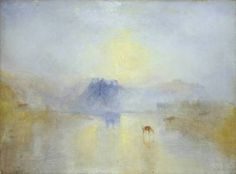 50 great landscape paintings - 'Norham Castle, Sunrise', by Joseph Mallord William Turner (British Oil on canvas, cm. x 48 in). Joseph Mallord William Turner, Landscape Art, Landscape Paintings, Turner Watercolors, Turner Painting, Painting Art, Art Aquarelle, Most Famous Paintings, Tate Britain