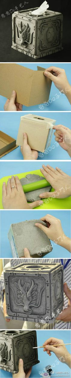 awesome tissue box tutorial (if only they had these in the middle ages, right?)