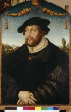 ildnis des Pfalzgrafen Johann III. (1488-1538), Administrator des Bistums Regensburg (Gemälde, Porträt)  Inventarnummer: Gm899 Hans Wertinger, 1526. Portrait of Anne of Cleves father, John III.