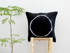 WAYFARER . tie dye linen cushion cover . pillow . by bohemianbabes