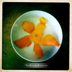 Star-shaped tangerine peel.   www.bensandbergphotos.com