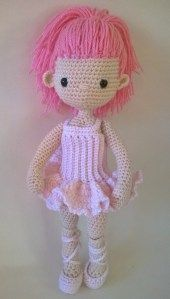 My Little Crochet Doll – Ballerina Dress - Karen Merritt Peggie Billadeau I used this free pattern.. I used a G hook and worsted weight yarn. When you make the bodice at the beginning, make sure it is the length that is correct for your doll. You can adjust that part without messing up the pattern.