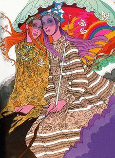 60s Fashion Illustration by Antonio Lopez