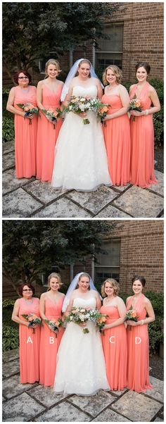ac4f439f23b Cheap Watermelon Red Plus Size Mismatched Bridesmaid Dresses PB10105
