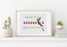 Pretty and colorful pattern for a special person! Be one in a million - rather than another boring one. Modern Cross Stitch, Cross Stitch Patterns, Crochet Patterns, Special Person, Cross Stitching, Color Patterns, Etsy Seller, Colorful, Creative