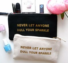 Never Let Anyone Dull Your Sparkle Gold Font by TheBestOfMeDesigns