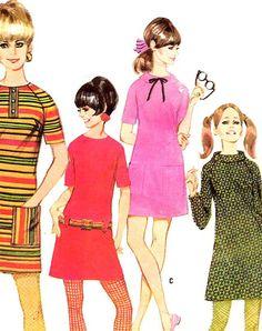 sixties dress pattern