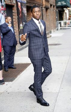 Chadwick Boseman visits the 'Late Show with David Letterman' in NYC