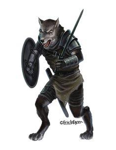 Eric Lofgren Presents: Werewolf Fighter - Misfit Studios | Eric Lofgren | Publisher Resources | DriveThruRPG.com Privateer Press, White Wolf, Stock Art, Art File, Misfits, Werewolf, All Art, Art Images