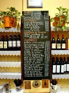 Carta de los VITORINOS Tapas, Wine Rack, Home Decor, Zaragoza, Restaurants, Bottle Rack, Decoration Home, Room Decor, Wine Racks