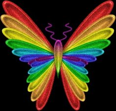 gif rainbow butterfly image by anetpatino Rainbow Butterfly, Love Rainbow, Taste The Rainbow, Butterfly Art, Over The Rainbow, Rainbow Colors, Vibrant Colors, Butterfly Wallpaper, Butterfly Kisses
