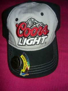 47b7006f4b5 Nwt Coors Light Beer Bottle Opener Trucker Baseball Hat Cap OS Velcro Back.