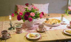 Tischläufer Röschen - shabby - chic - hochzeitsdeko - heimatwerke - hochzeit - wedding