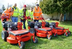 We recently took stock of three brand new essential pieces of kit; three red Snapper mowers and the lads in the team are really pleased.