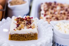 @cristinacooks makes her recipe for Homemade Pumpkin Bars on #homeandfamily! #homeandfamilytv