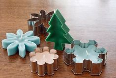How To Make Cookie Cutter Candles | Any type of basic cookie cutters can be used to make these cookie cutter candles.